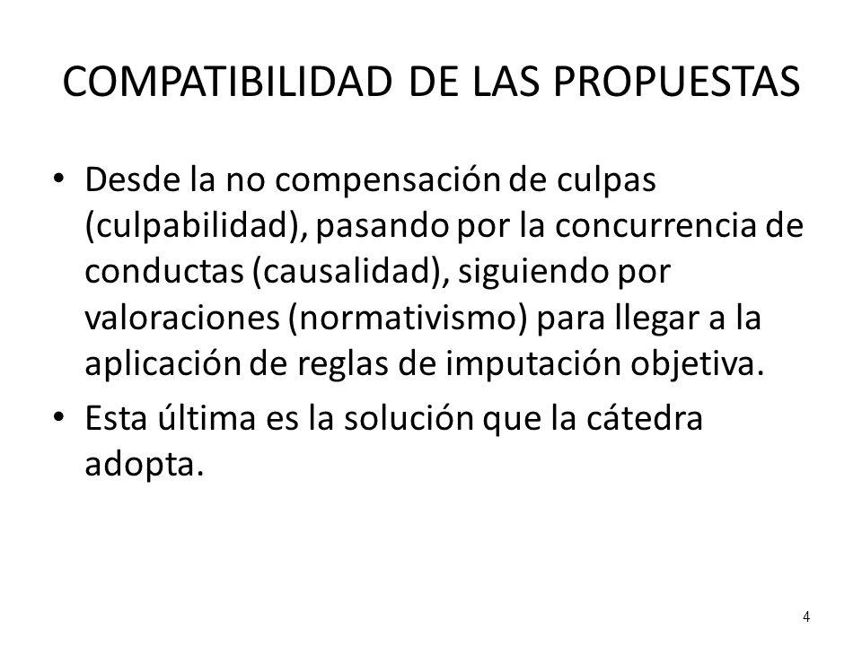 COMPATIBILIDAD DE LAS PROPUESTAS