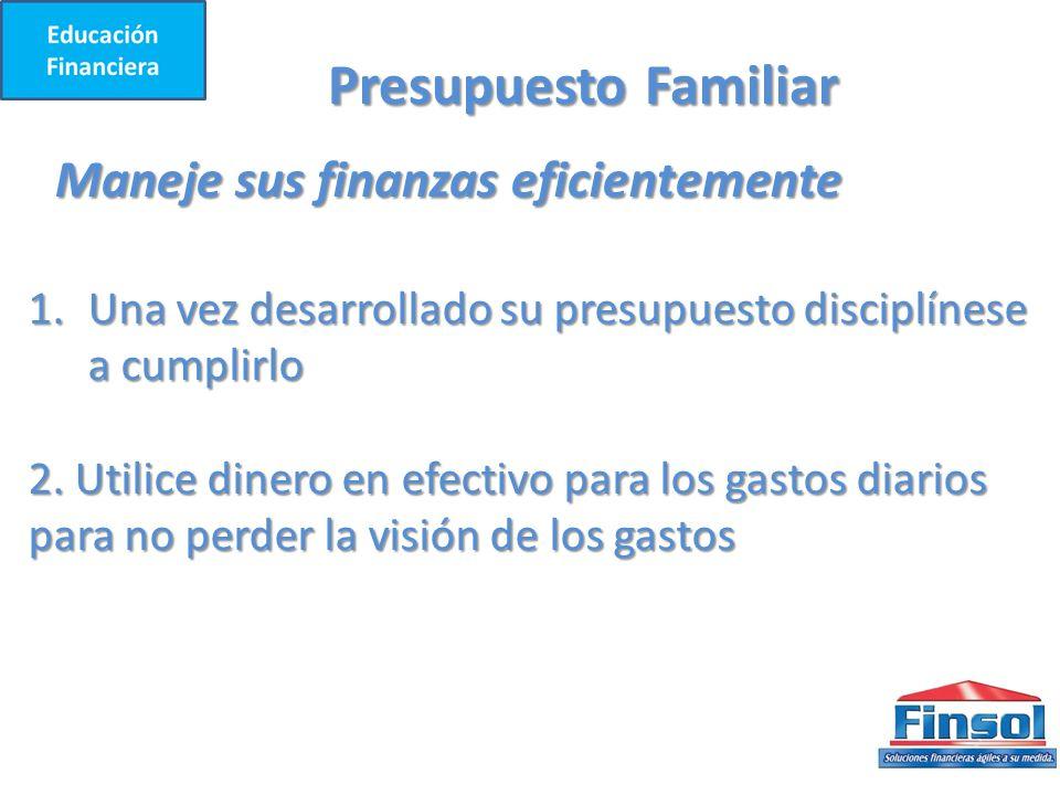 Presupuesto Familiar Maneje sus finanzas eficientemente