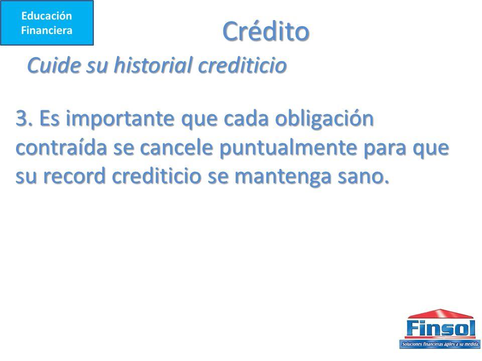 Crédito Cuide su historial crediticio
