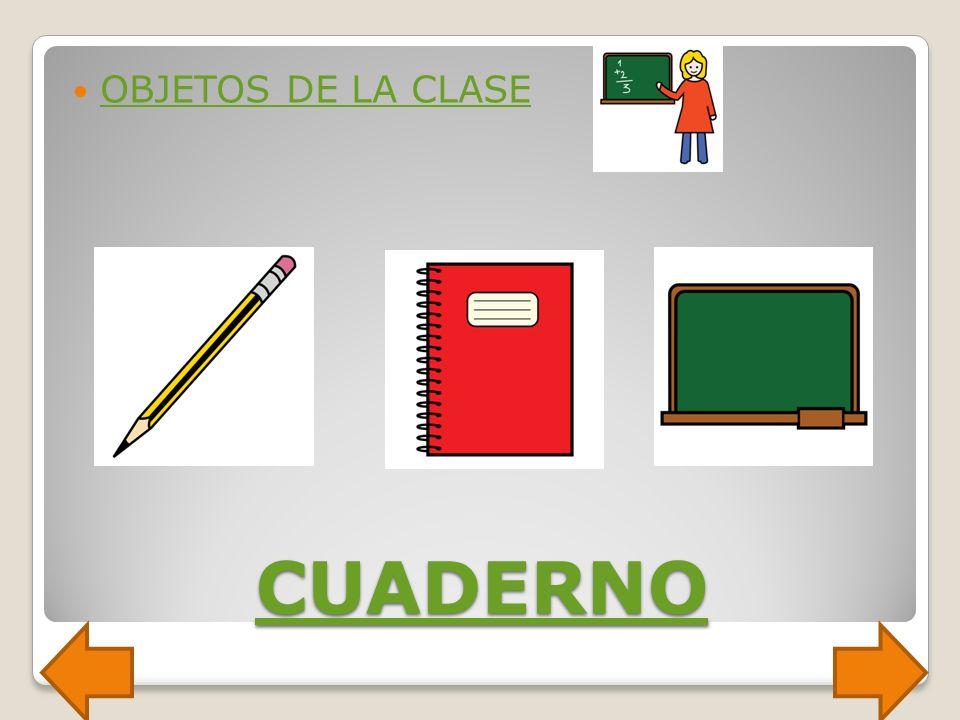 OBJETOS DE LA CLASE CUADERNO