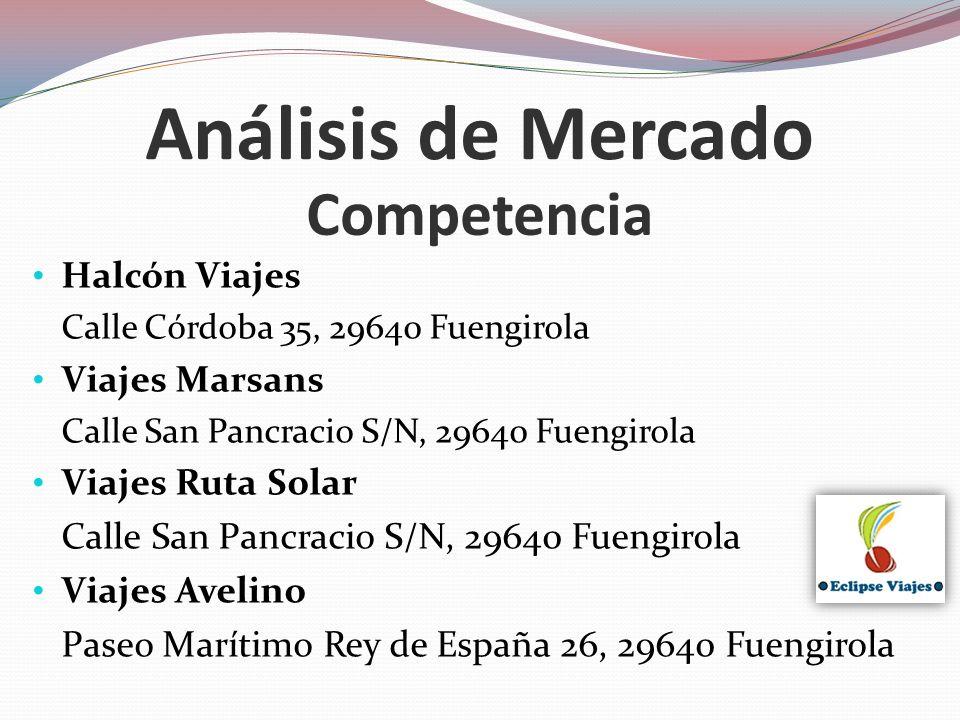 Análisis de Mercado Competencia Halcón Viajes Viajes Marsans