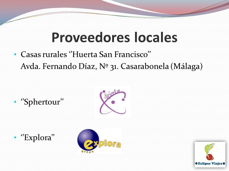 Proveedores locales Casas rurales ''Huerta San Francisco''