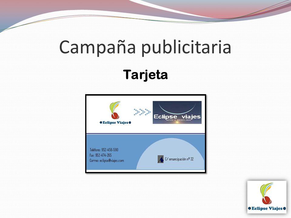 Campaña publicitaria Tarjeta