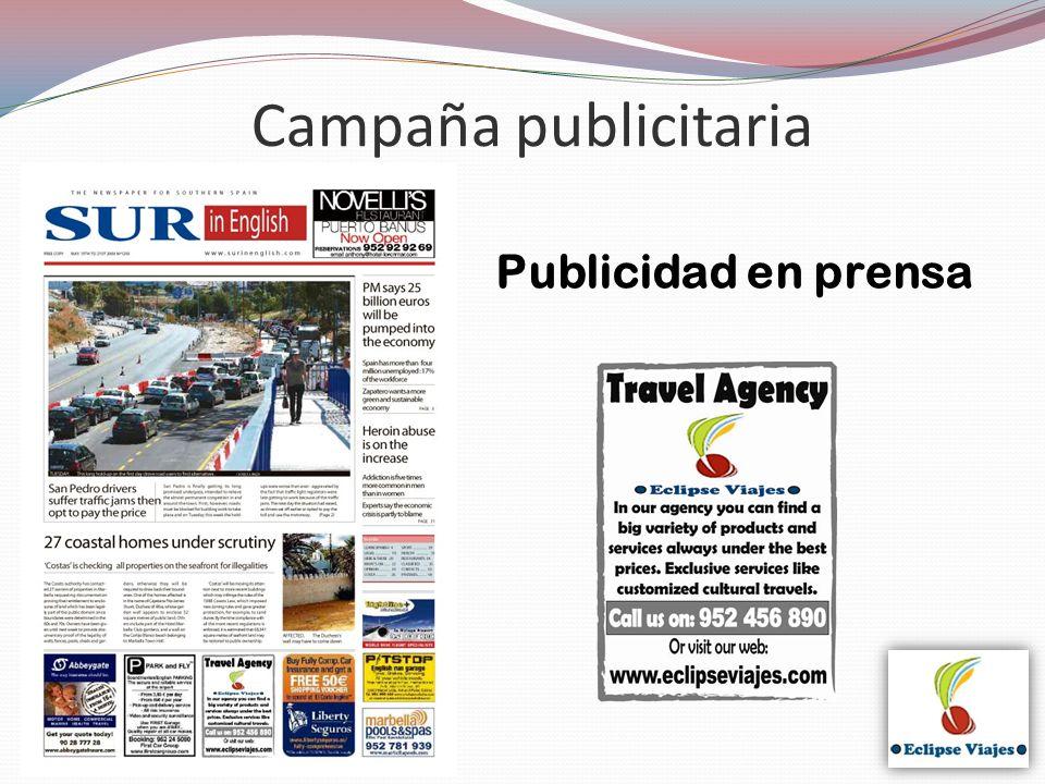 Campaña publicitaria Publicidad en prensa