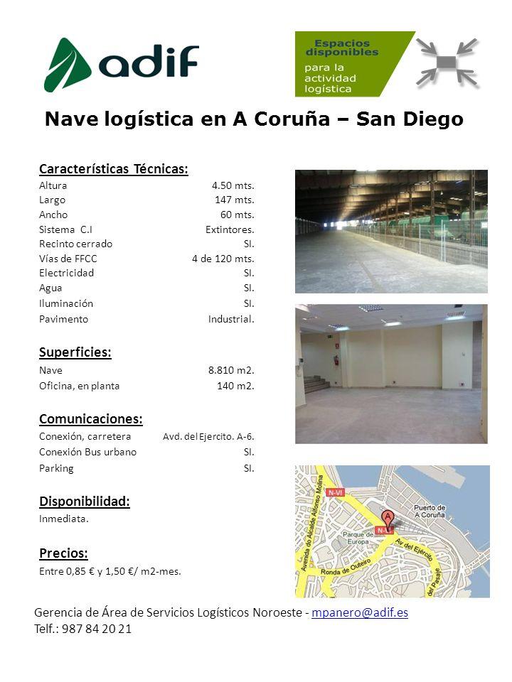 Nave logística en A Coruña – San Diego