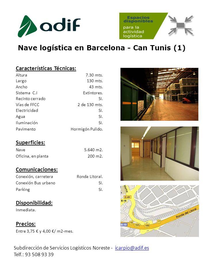 Nave logística en Barcelona - Can Tunis (1)