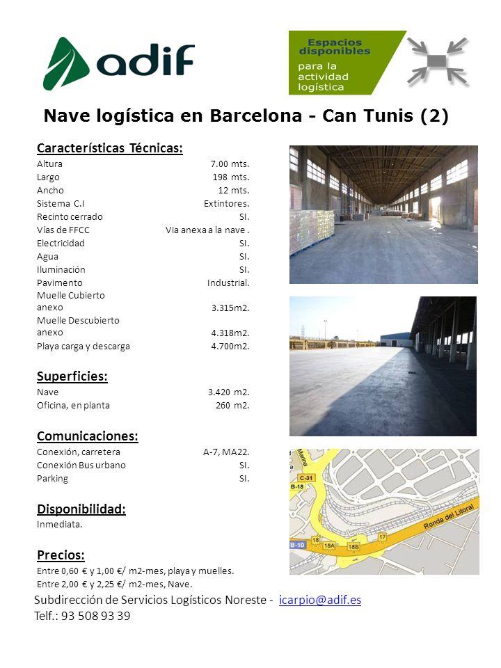 Nave logística en Barcelona - Can Tunis (2)