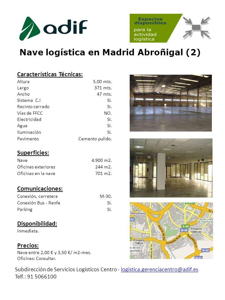 Nave logística en Madrid Abroñigal (2)