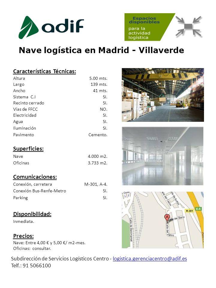 Nave logística en Madrid - Villaverde