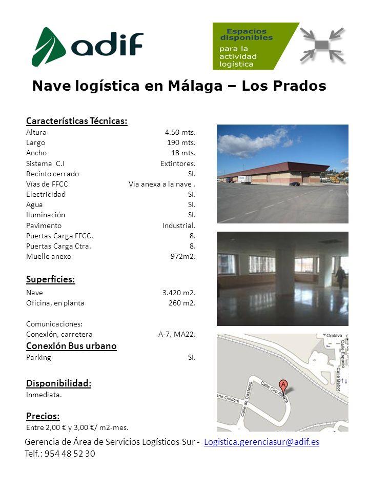 Nave logística en Málaga – Los Prados