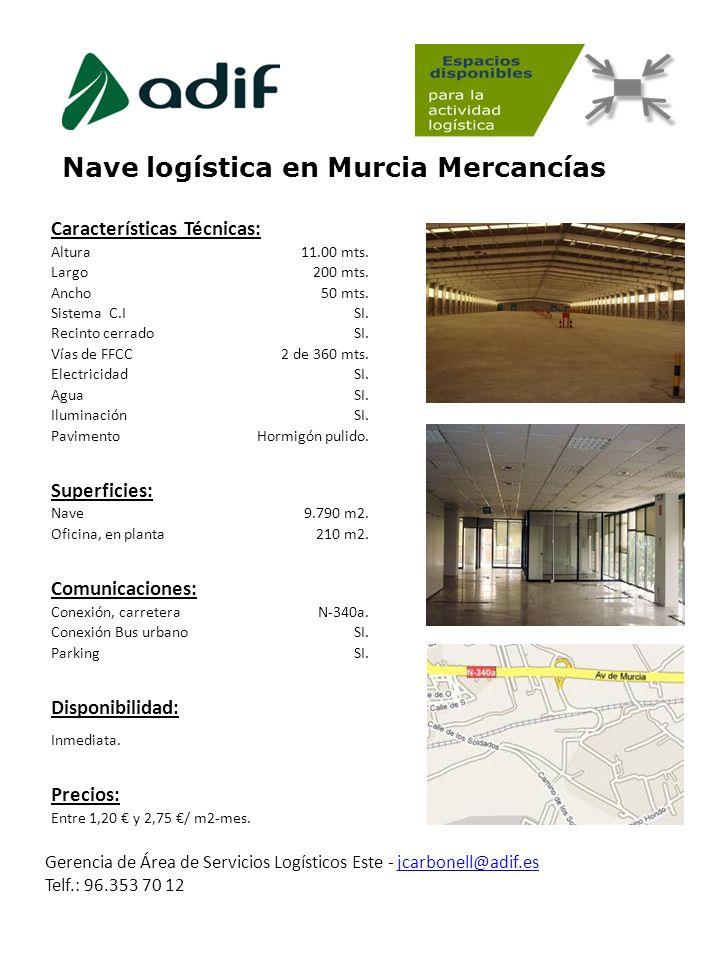 Nave logística en Murcia Mercancías