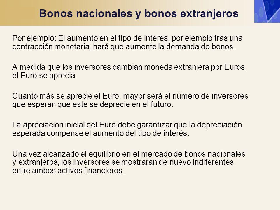 Bonos nacionales y bonos extranjeros