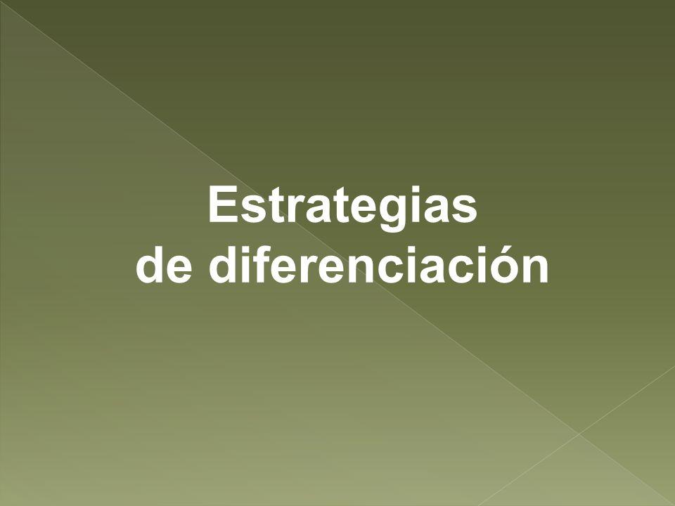 Estrategias de diferenciación