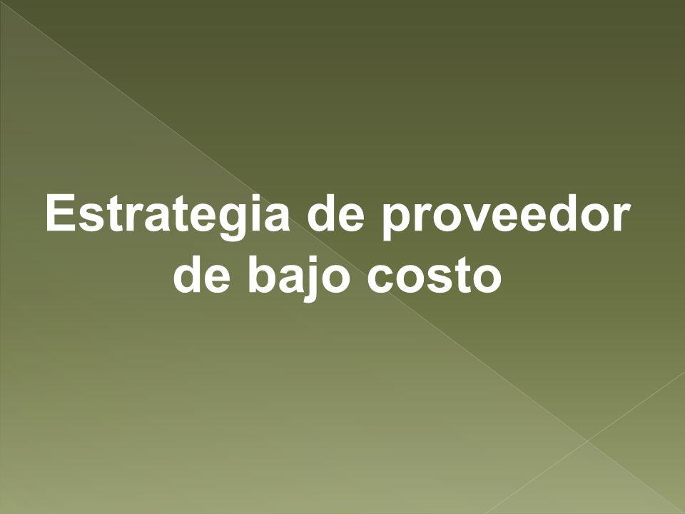 Estrategia de proveedor de bajo costo