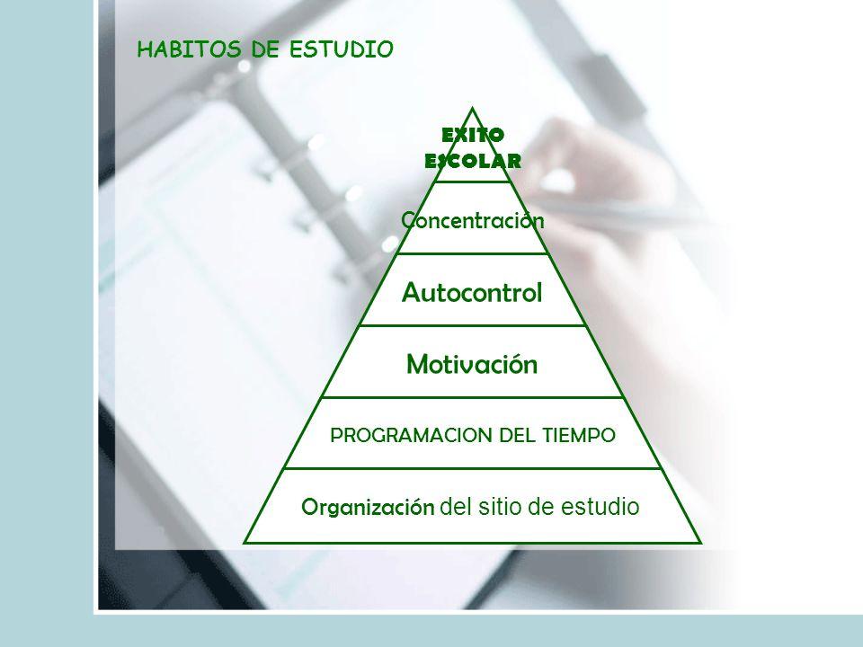 HABITOS DE ESTUDIO
