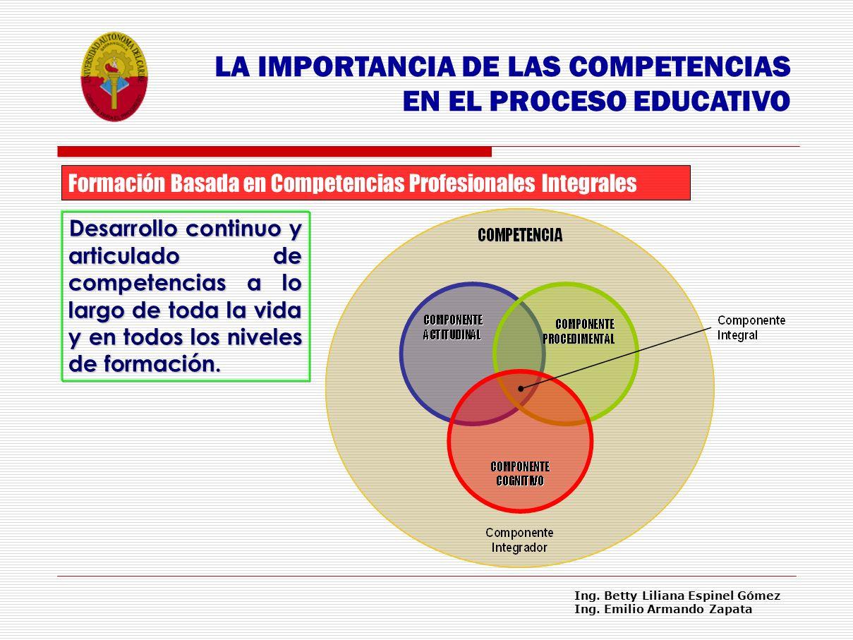 LA IMPORTANCIA DE LAS COMPETENCIAS EN EL PROCESO EDUCATIVO