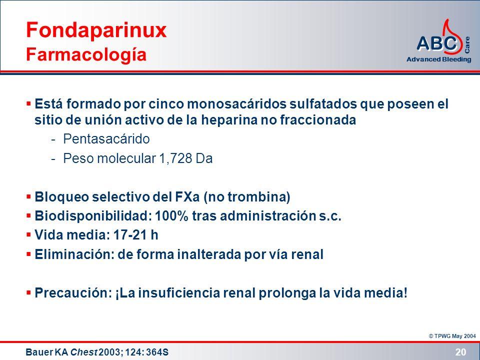 Fondaparinux Farmacología