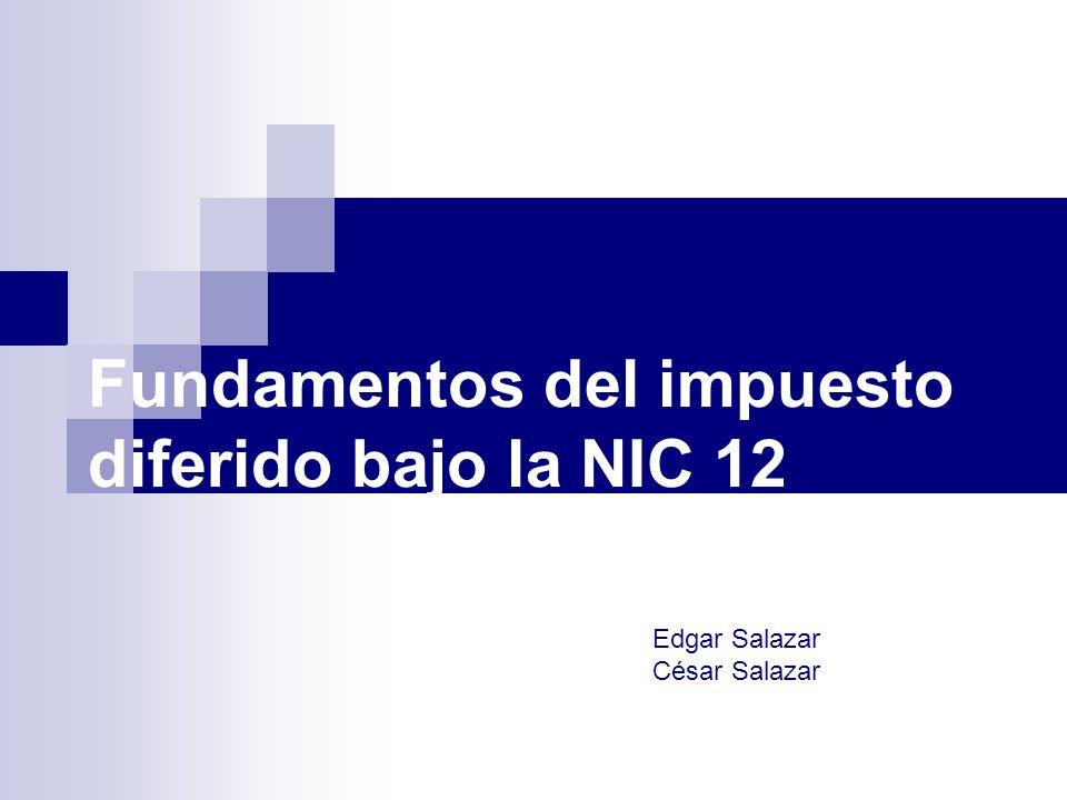 Fundamentos del impuesto diferido bajo la NIC 12