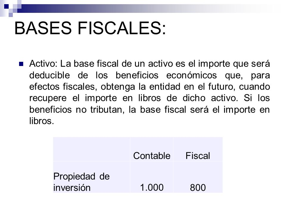 BASES FISCALES: