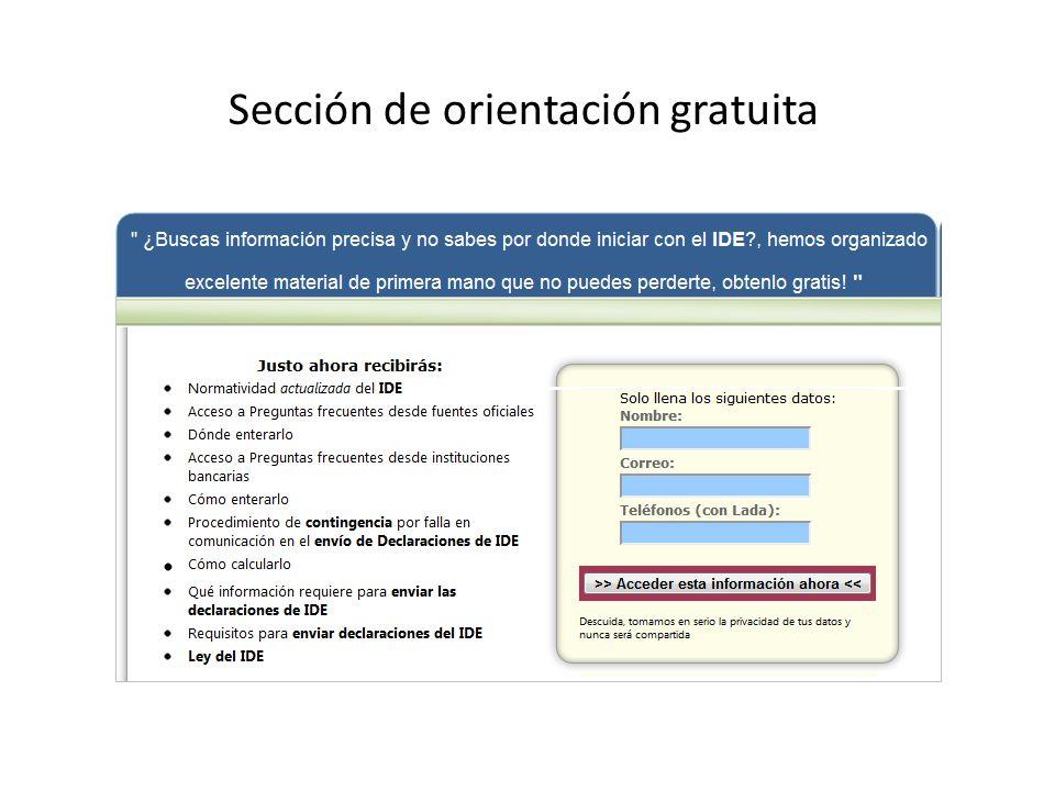 Sección de orientación gratuita