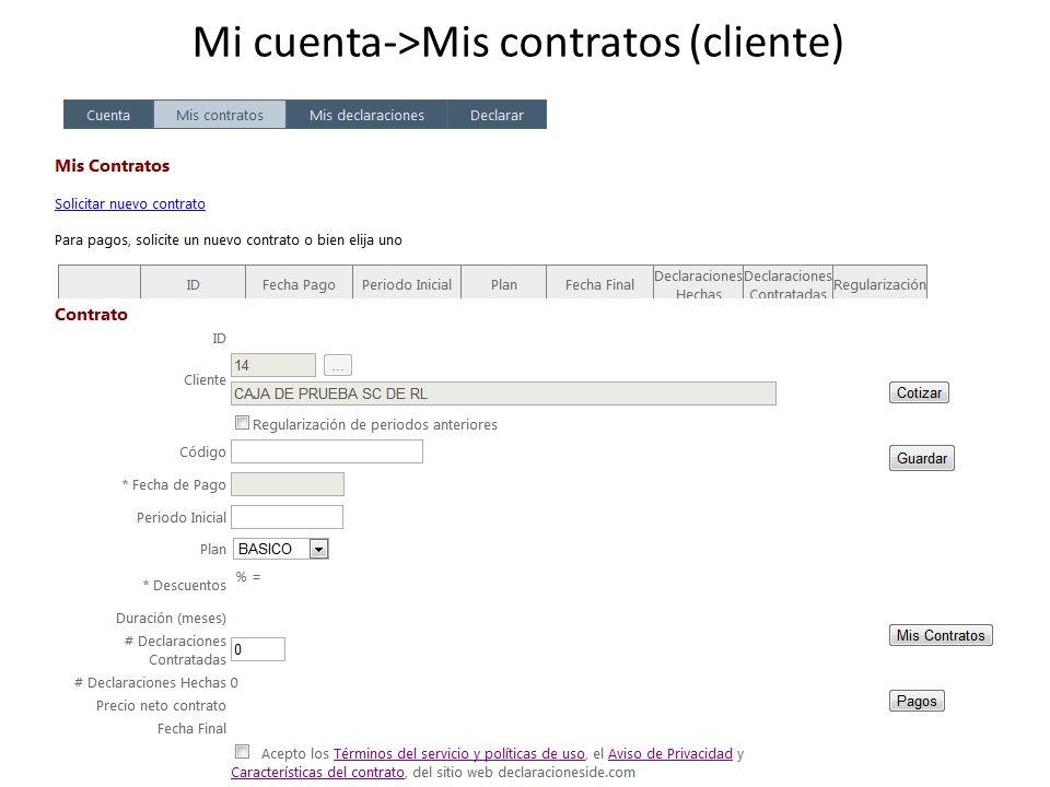 Mi cuenta->Mis contratos (cliente)