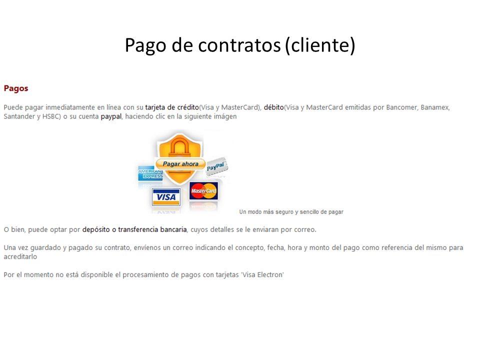 Pago de contratos (cliente)
