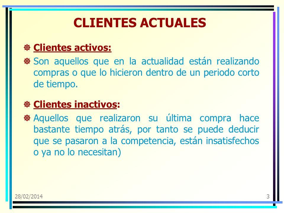 CLIENTES ACTUALES Clientes activos: