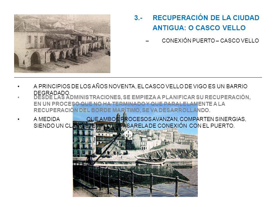 3.- RECUPERACIÓN DE LA CIUDAD ANTIGUA: O CASCO VELLO