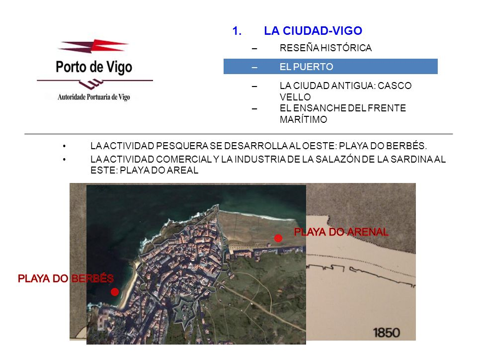 LA CIUDAD-VIGO PLAYA DO ARENAL PLAYA DO BERBÉS RESEÑA HISTÓRICA
