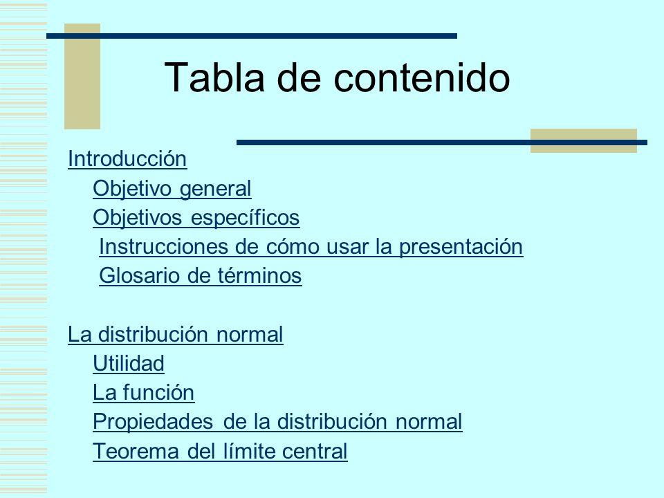 Tabla de contenido Introducción Objetivo general Objetivos específicos