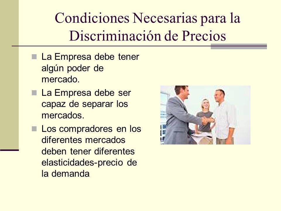 Condiciones Necesarias para la Discriminación de Precios