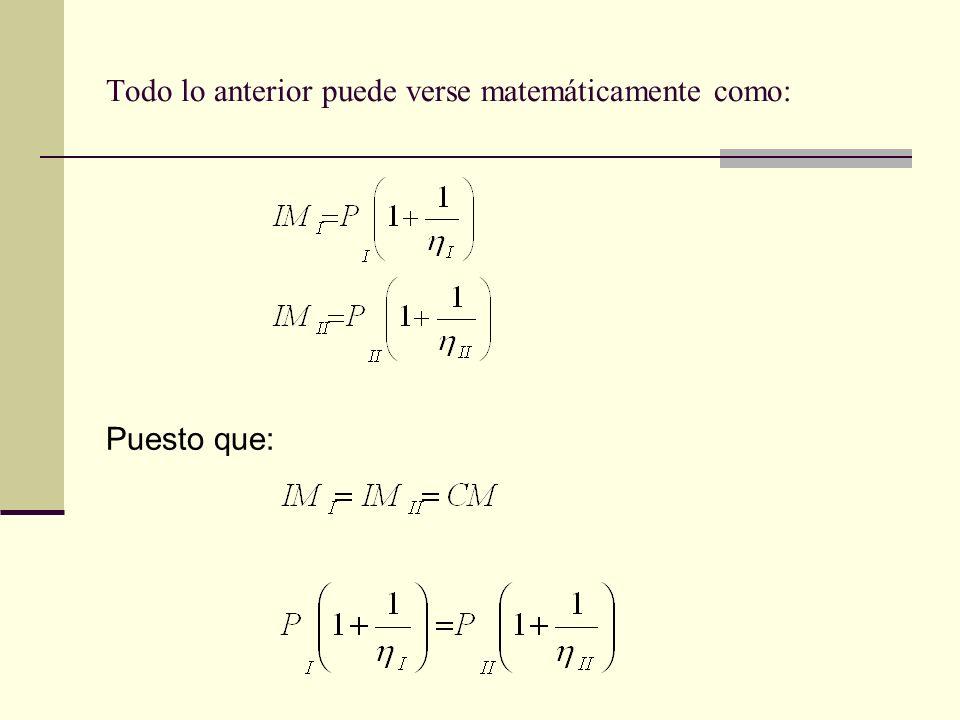 Todo lo anterior puede verse matemáticamente como: