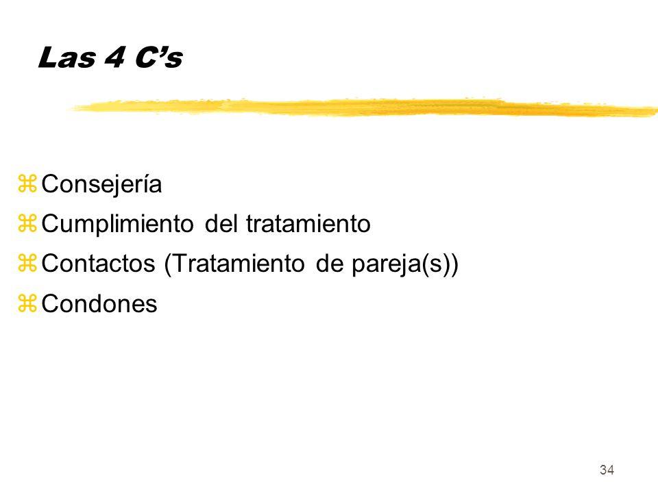Las 4 C's Consejería Cumplimiento del tratamiento
