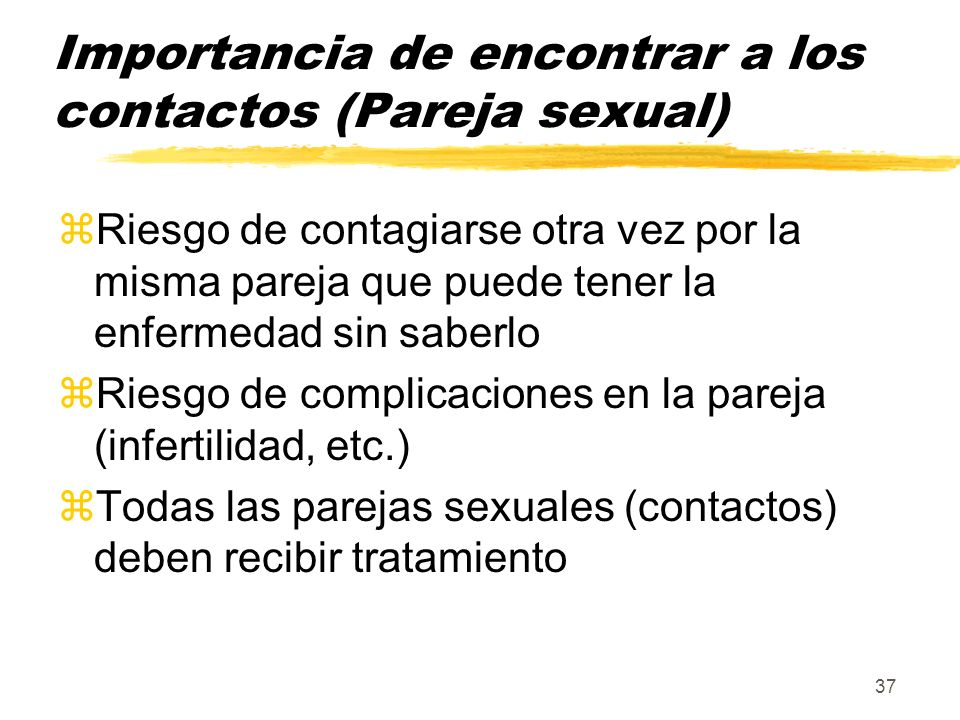 Importancia de encontrar a los contactos (Pareja sexual)