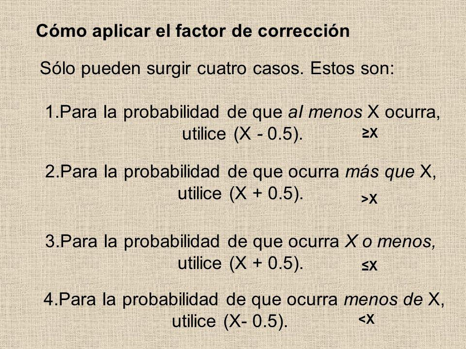 Cómo aplicar el factor de corrección