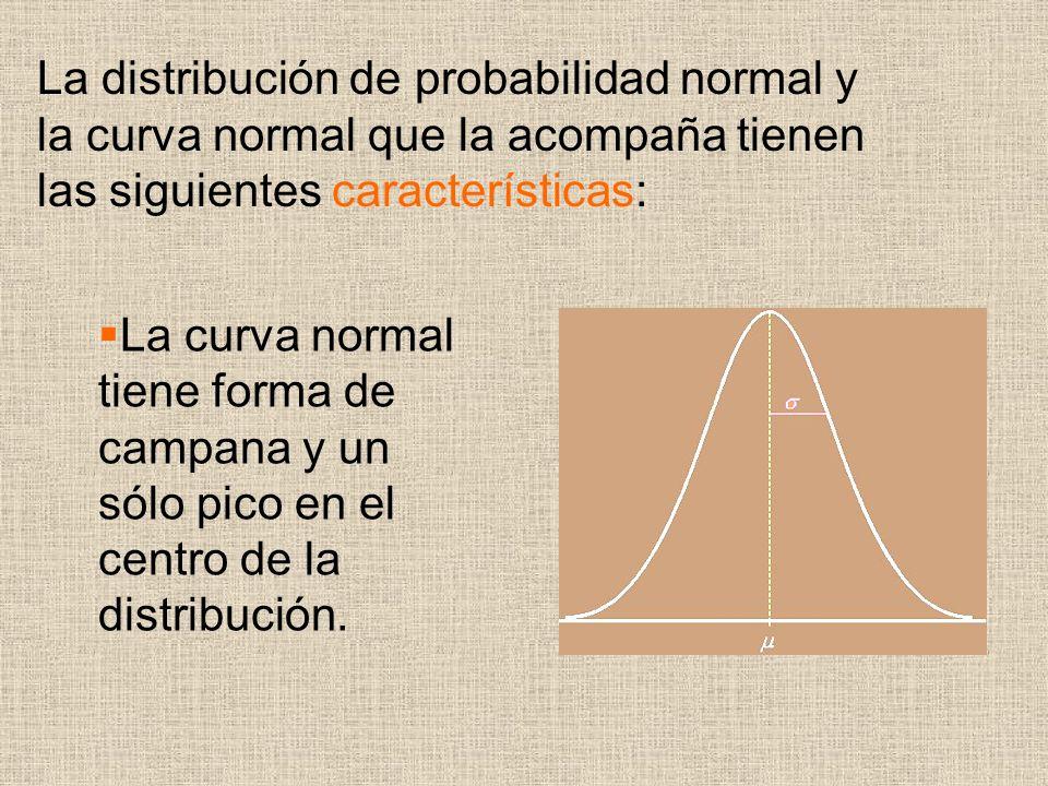 La distribución de probabilidad normal y