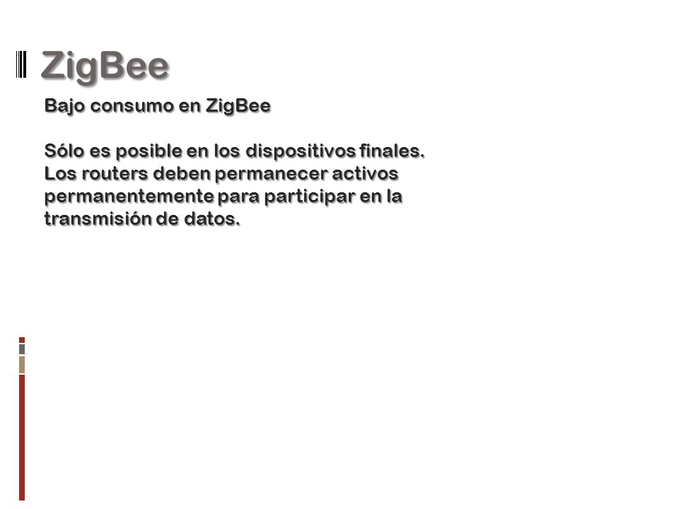 ZigBee Bajo consumo en ZigBee
