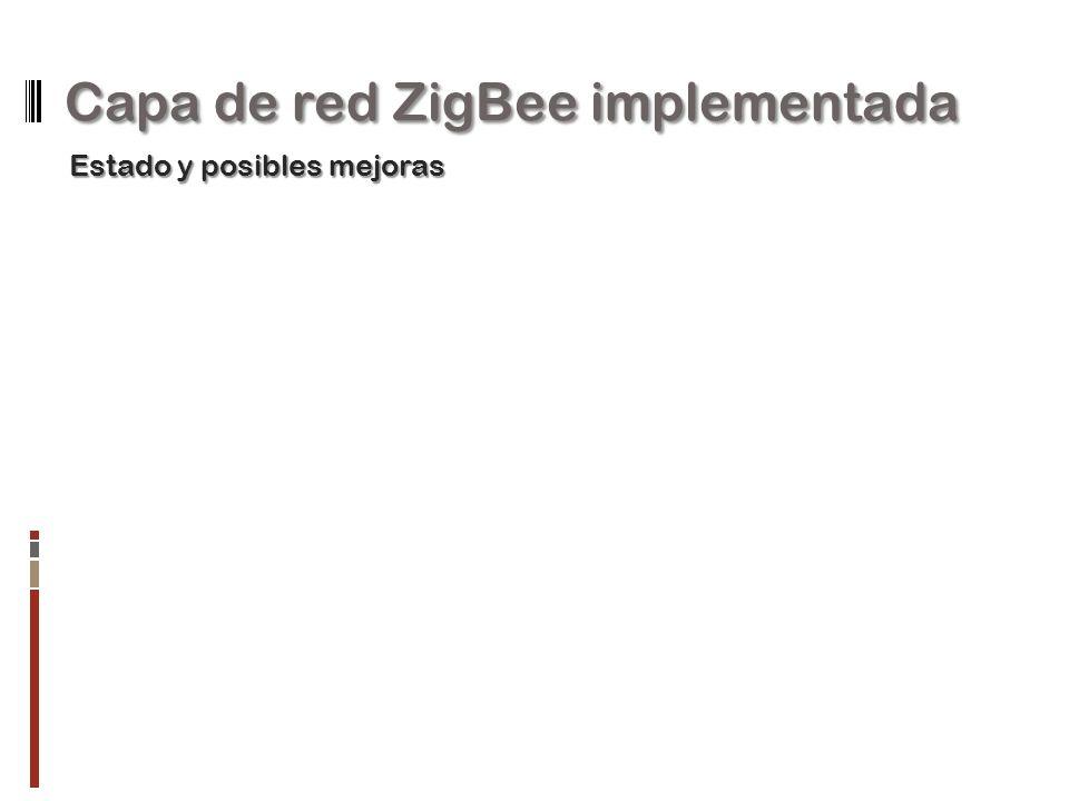 Capa de red ZigBee implementada