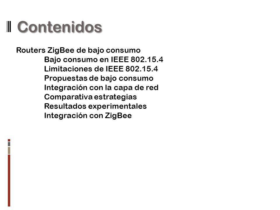 Contenidos Routers ZigBee de bajo consumo