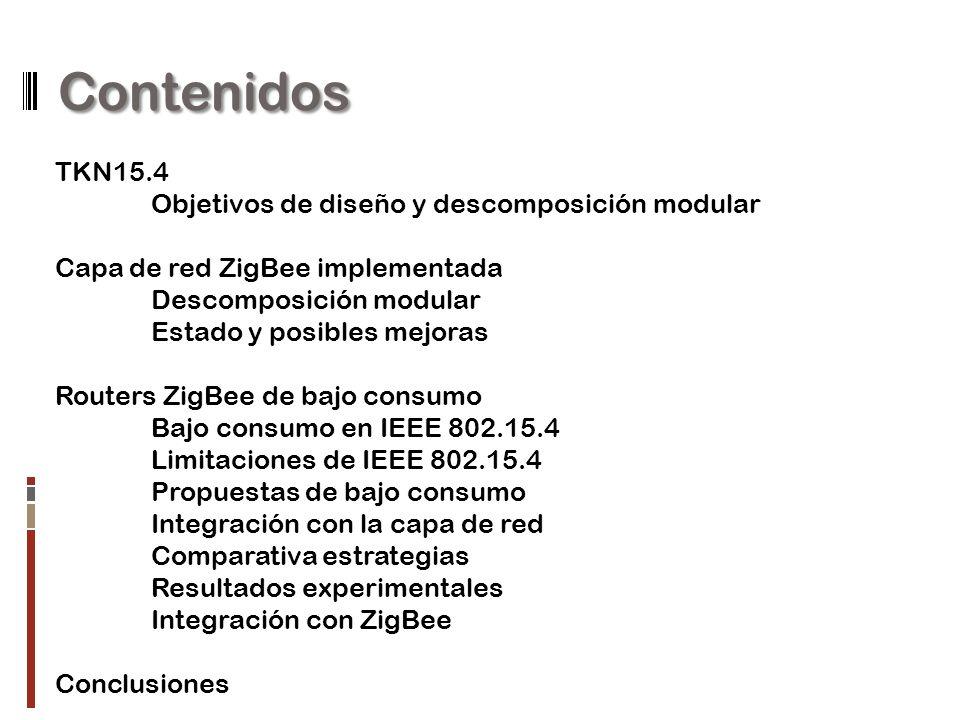 Contenidos TKN15.4 Objetivos de diseño y descomposición modular