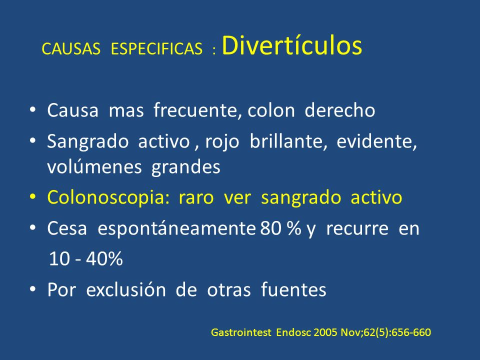 CAUSAS ESPECIFICAS : Divertículos