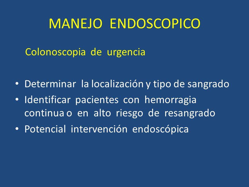 MANEJO ENDOSCOPICO Colonoscopia de urgencia