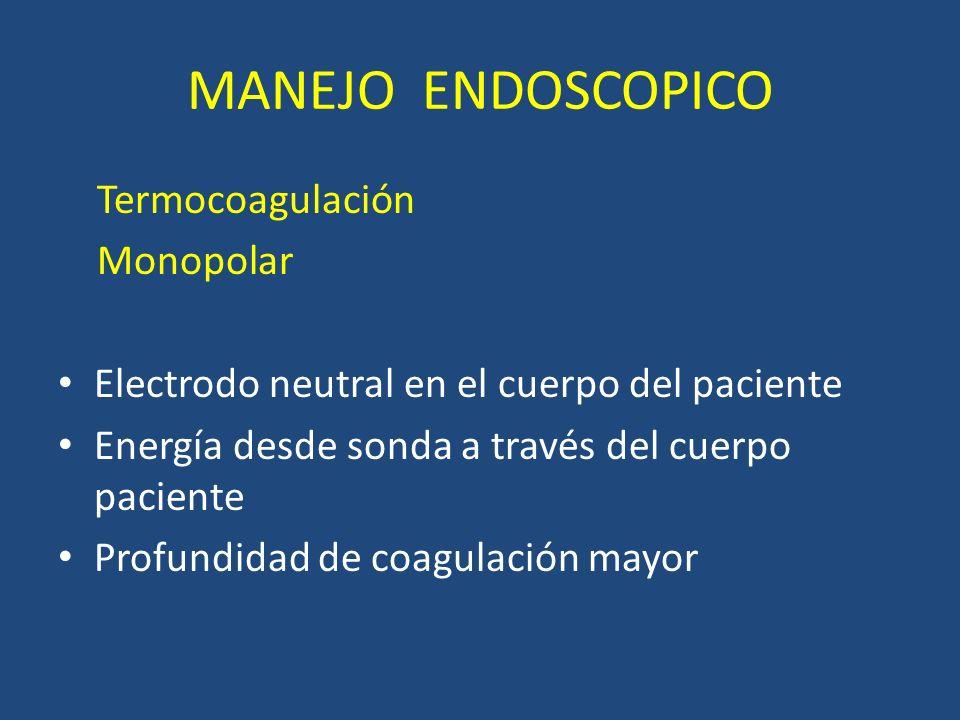 MANEJO ENDOSCOPICO Termocoagulación Monopolar