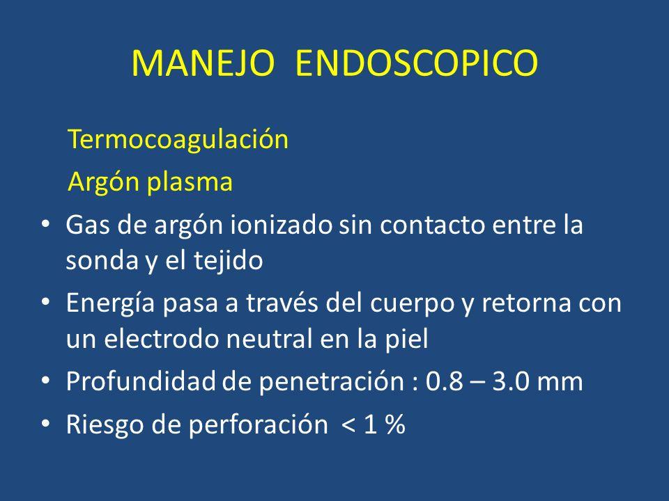MANEJO ENDOSCOPICO Termocoagulación Argón plasma