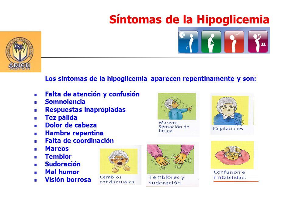 Síntomas de la Hipoglicemia