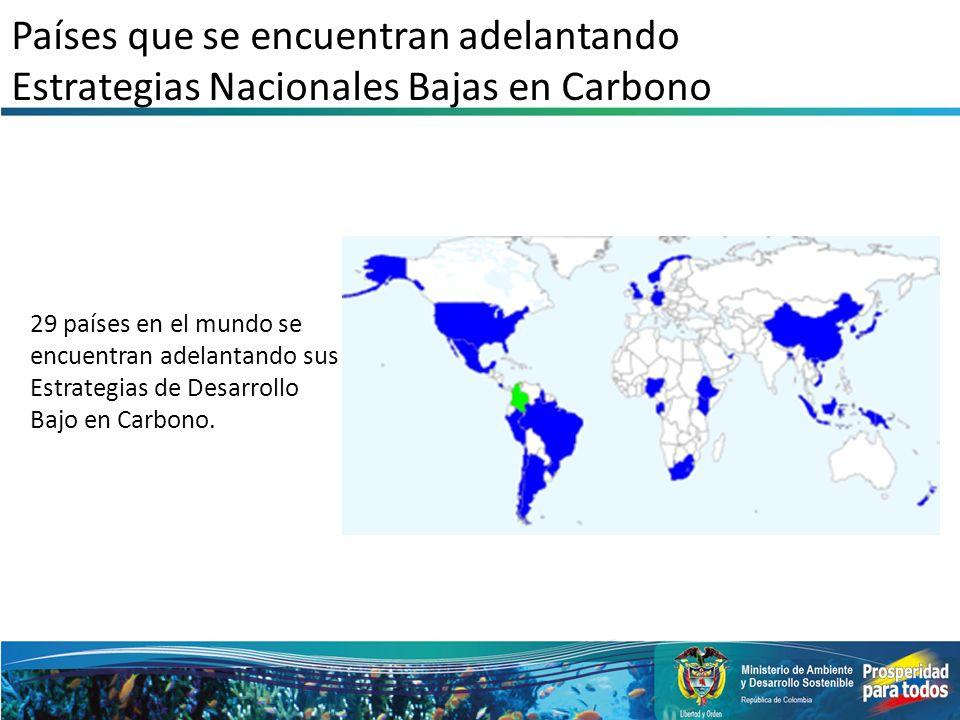 Países que se encuentran adelantando Estrategias Nacionales Bajas en Carbono