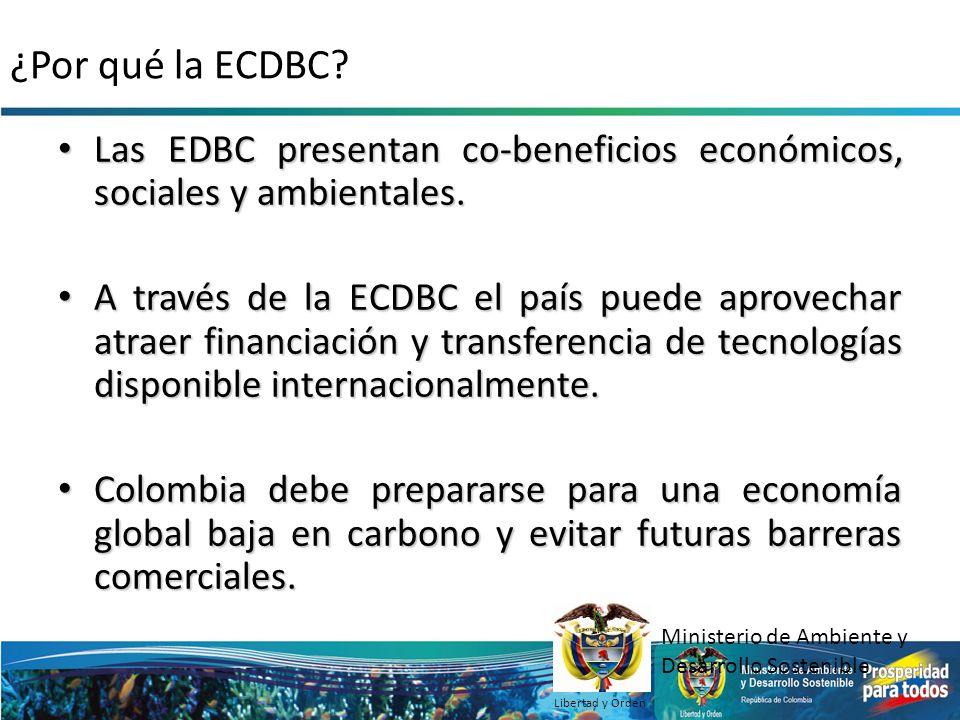 ¿Por qué la ECDBC Las EDBC presentan co-beneficios económicos, sociales y ambientales.