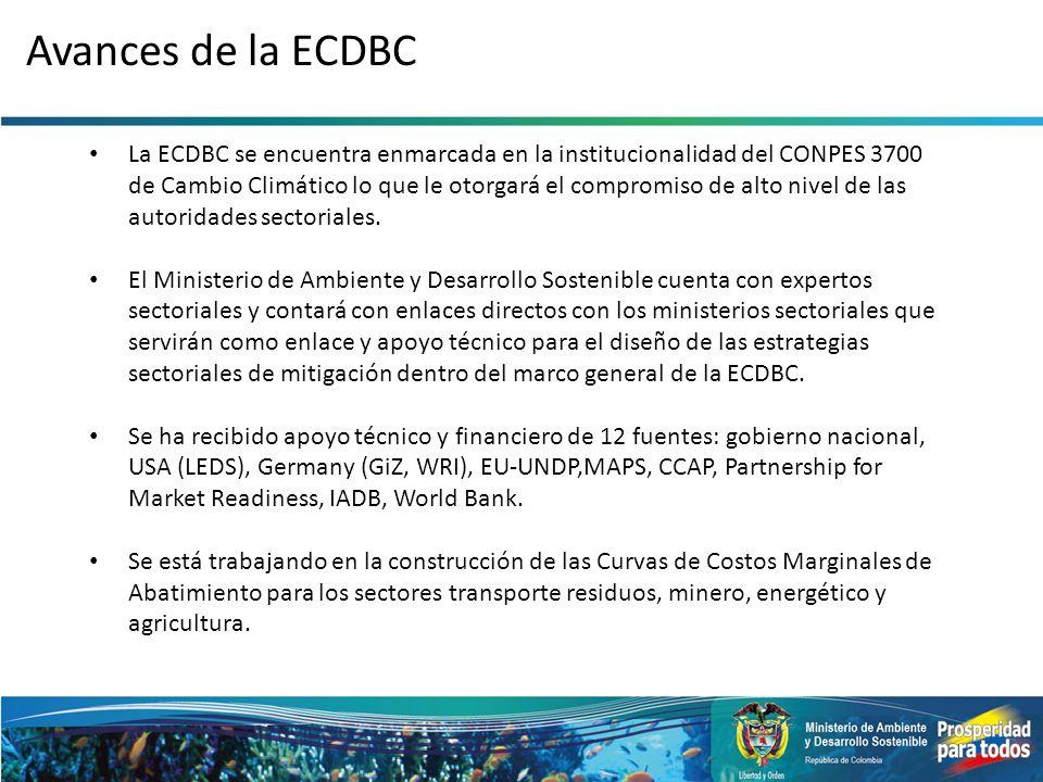 Avances de la ECDBC