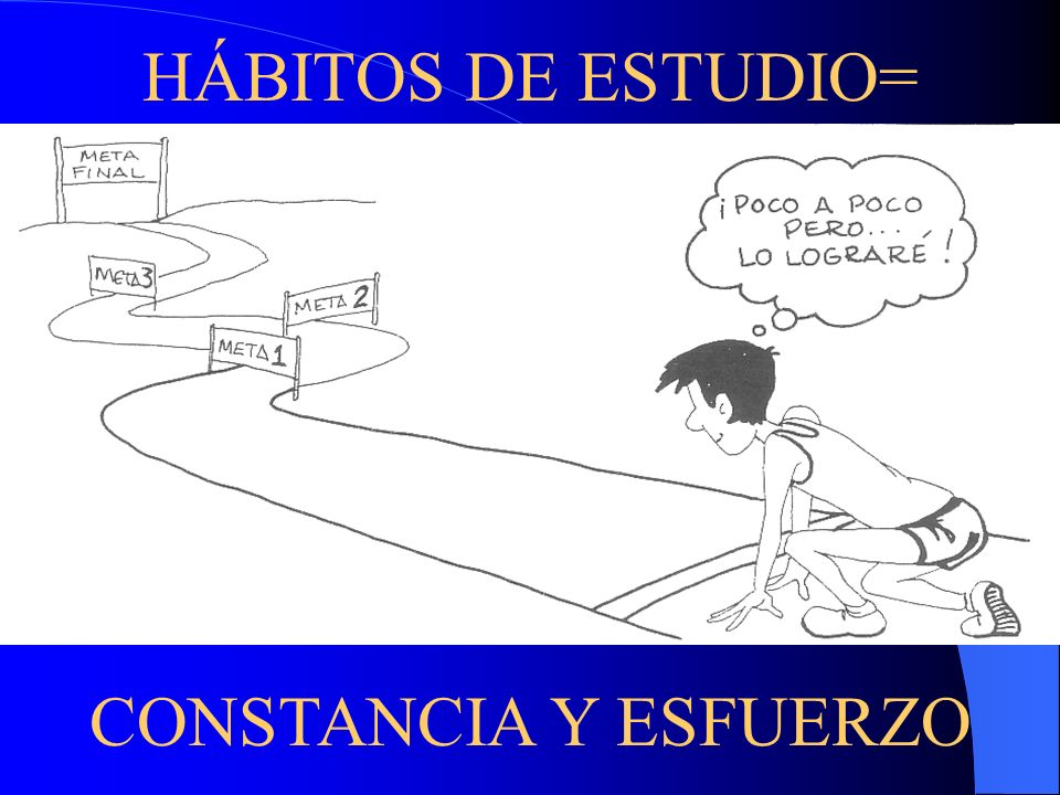 HÁBITOS DE ESTUDIO= CONSTANCIA Y ESFUERZO
