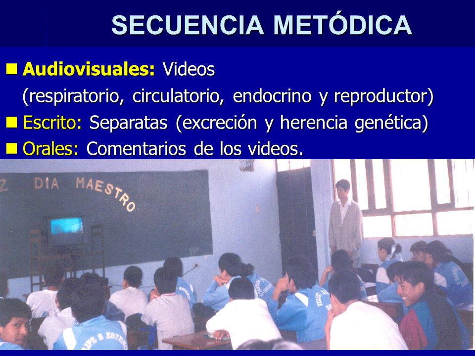 SECUENCIA METÓDICA Audiovisuales: Videos
